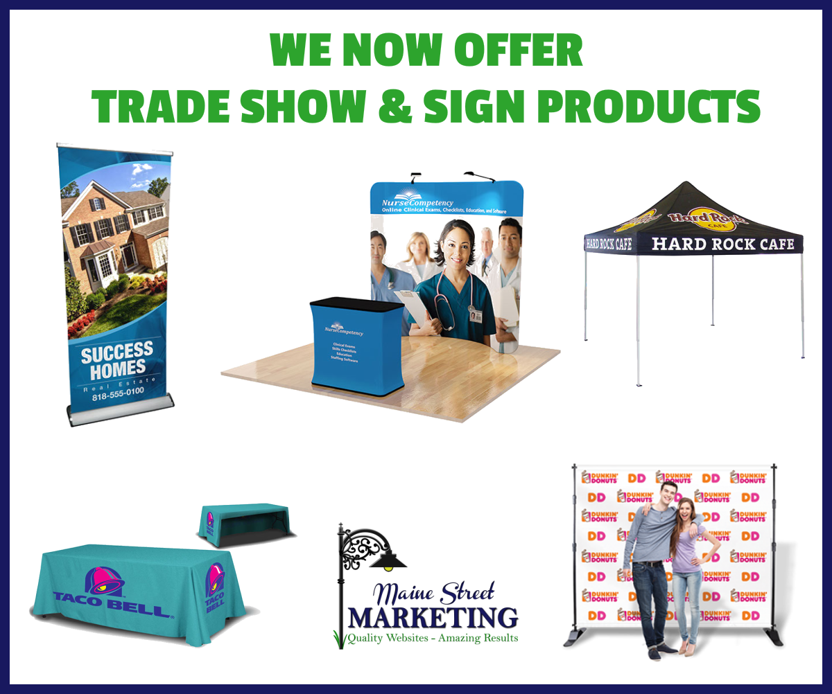 Trade Show and Signage products for sale