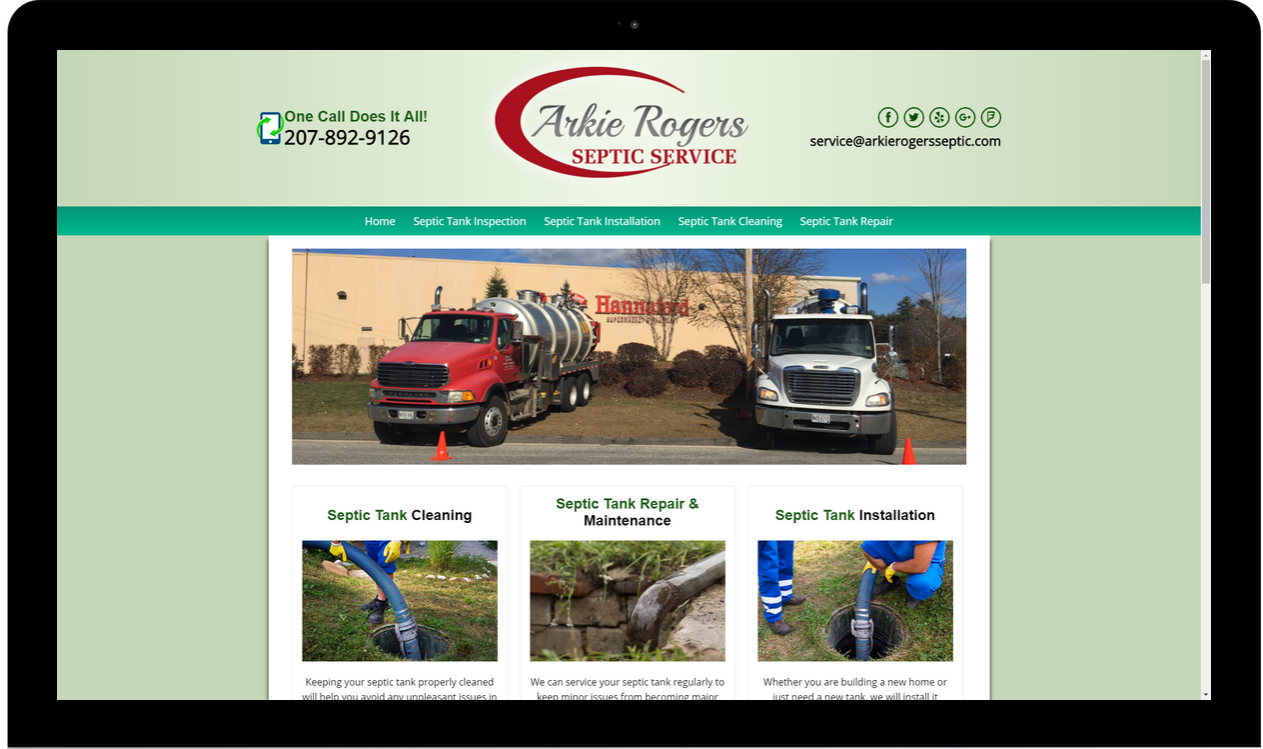Arkie Rogers Septic Service Windham Maine