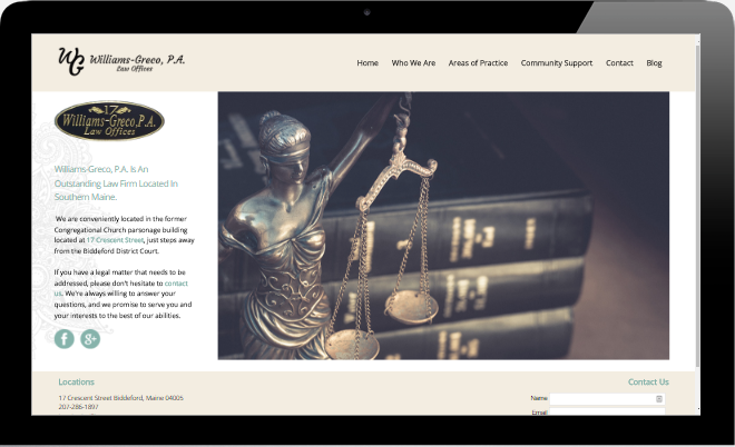 Williams Greco Attorneys Bideford - Portland Maine