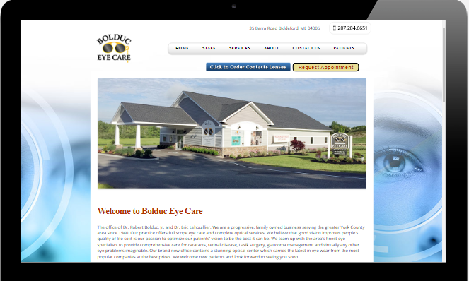 Bolduc Eye Care Biddeford MAine