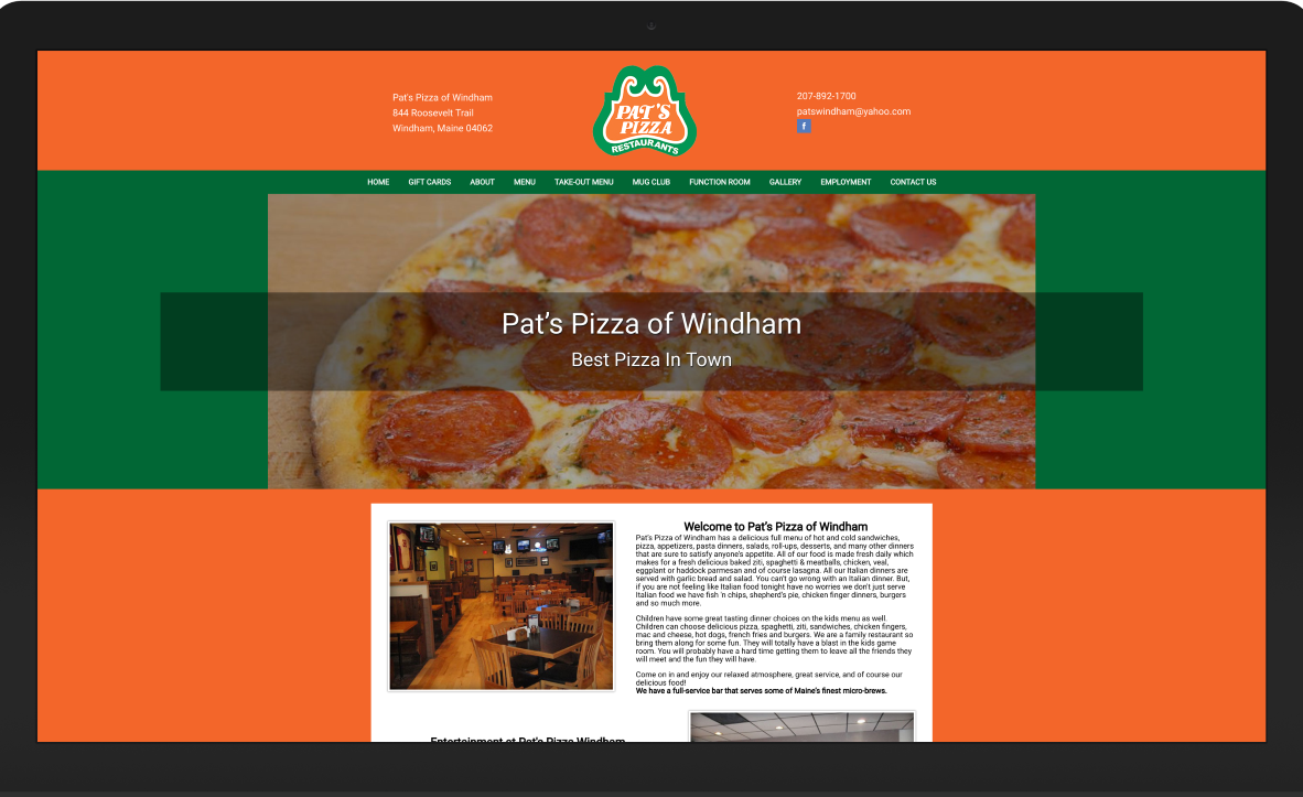 Pat's Pizza Windham Maine