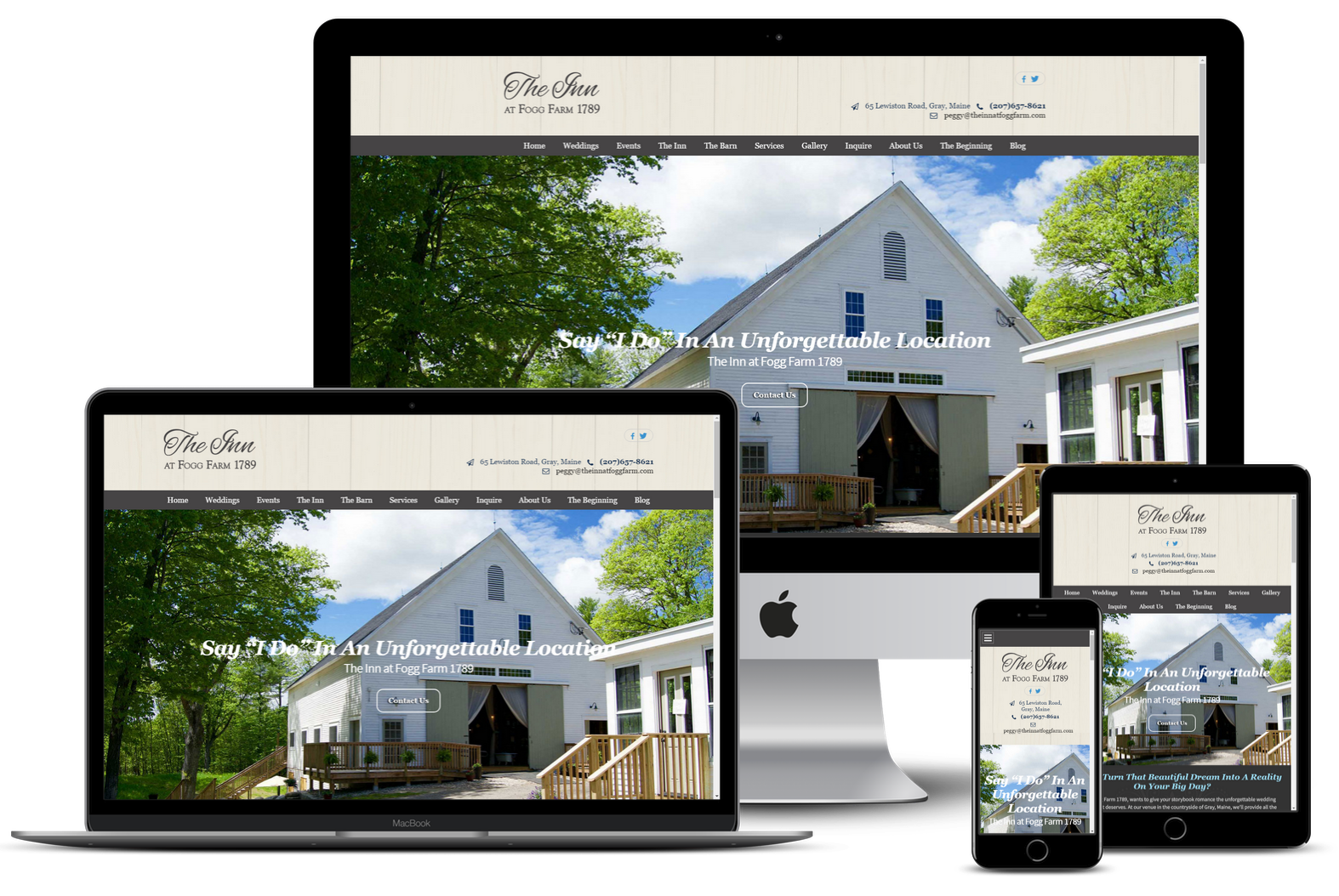 Our Portfolio of Websites offered by Maine Street Marketing Located in Saco Maine and Boynton Beach Florida