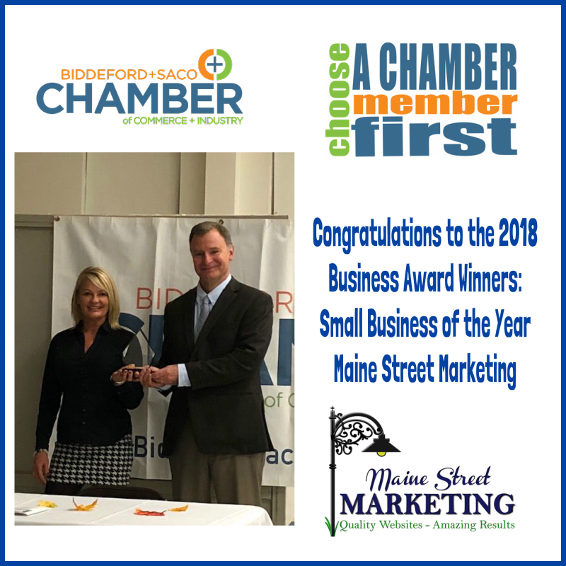 Biddeford Saco Chamber of Commerce 2018 Small Business of the Year
